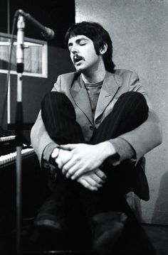 Paul McCartney in the studio.