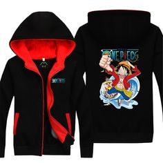 Vicwin-One One Piece Monkey·D·Luffy Thick Hoodie Pullover Cosplay (Size XXXL) * Want additional info? Click on the image.