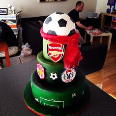 Soccer themed birthdaycake for my boys ;)