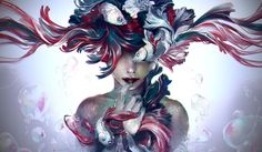 """yuumei-art: """" These Lies Swimming, glistening around my mind A beautiful mask Covering my skin The artificial taste Addicting, adhering, advancing And now I've lost myself ______________________ A. Yuumei Art, Fisheye Placebo, Aztecas Art, Knights Of The Zodiac, Art Et Illustration, Illustrations, Art Graphique, Oeuvre D'art, Amazing Art"""