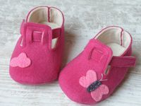 Baby felt shoes Pink booties and slippers for by Melimebabybeeshop, $30.00