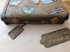The Diamond Baker - Travel loving suitcase birthday cake.