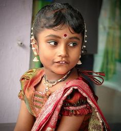 Indian little girl by Eva