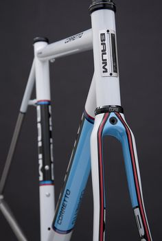 GTB, Satin Pearl White, Duck Egg Blue, CK Blue, CK Red, Corretto by Baum Cycles, via Flickr