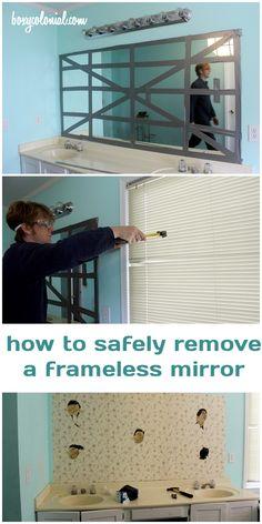 How To Remove A Frameless Mirror Like A Nervous Grandma