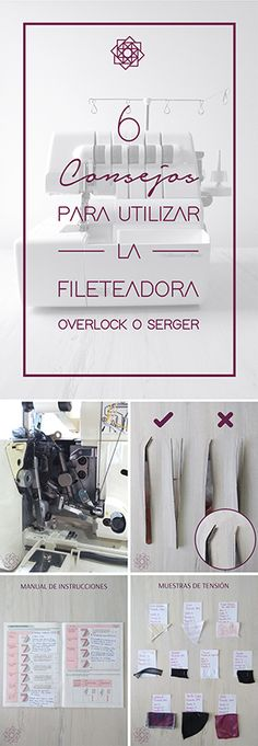 Tips de fileteadora. consejos para utilizar fileteadora. serger. overlock. Serger Sewing, Design Blog, Sewing Hacks, Sewing Tips, Place Card Holders, Cards, Couture, Cool Crafts, Sewing Techniques