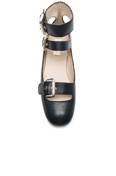 64d9e5f0cc7a4 See By Chloe Leather Gladiator Flat in Black