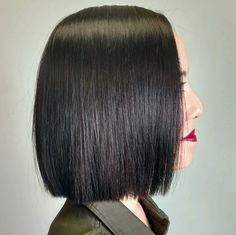 Perfect and classic sleek one-length bob by Aveda Artist Molly at Salon Enso.