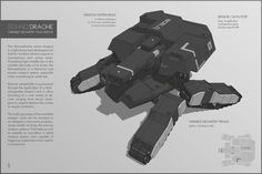 SCHNEEDRACHE Drone Tank by M-Vitzh.deviantart.com on @deviantART