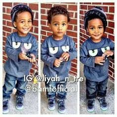 Would love Idris ' first haircut to look like this!