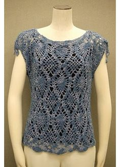 Pineapple Crocheted blouse with Chart instructions