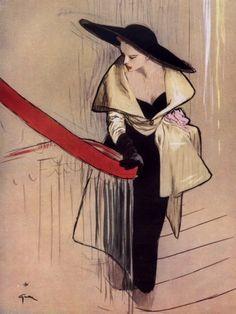 ComJeitoeArte: Hoje aconteceu... 108º aniversário de Christian Dior Ilustração de René Gruau, para Dior, 1948 - Red List