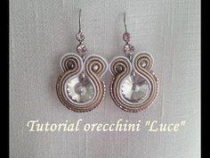 """TUTORIAL Soutache orecchini """"Luce"""" - incastonatura cristallo con fili di soutache - - YouTube"""