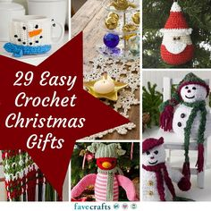 29 Easy Crochet Christmas Gifts | It's never too early to start getting ready for Christmas! Check out these cute crochet gift ideas.