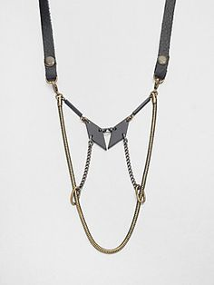 Bliss Lau Mixed-Media Bib Necklace