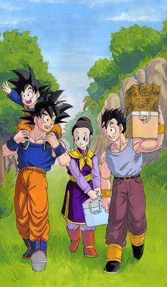 |★| Goten, Goku, Chi-Chi & Gohan |亀|