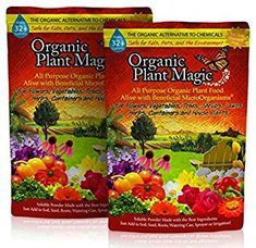 Plant Magic Plant Food Organic Fertilizer - Easy to Use All Purpose for Indoor Houseplants, Outdoor Flowers, Tomatoes and All Vegetables and Trees (Also Known as Instant Compost lb Fertilizer For Plants, Organic Fertilizer, Organic Soil, Organic Plants, Growing Ginger Indoors, Plant Magic, Compost Tea, Outdoor Flowers