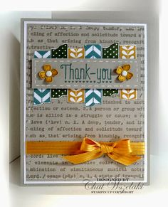 Me, My Stamps and I: Consider It Cased using Another Thank You