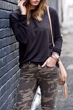 Tee: Nordstrom {only $38!} | Denim: Zara {almost exact HERE } | Sneakers: Golden Goose | Bralette: Anine Bi...