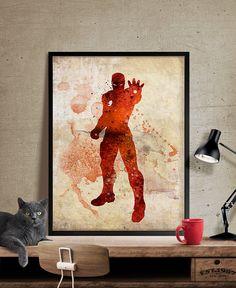 Iron Man print superhero poster Iron Man Poster by FineArtCenter