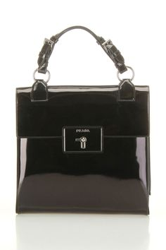 Prada Spazzolato Handbag In Black