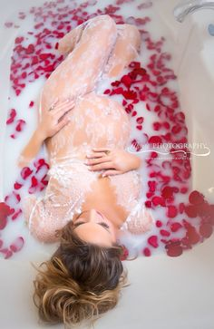 Pregnancy milk bath, Kansas City maternity photographer