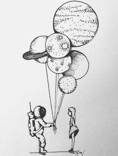 doodle art * doodle art & doodle art journals & doodle art for beginners & doodle art easy & doodle art patterns & doodle art drawing & doodle art creative & doodle art letters Space Drawings, Cool Art Drawings, Pencil Art Drawings, Art Drawings Sketches, Easy Drawings, Sketch Art, Drawing Drawing, Sketch Ideas, Indie Drawings