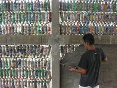 plastic bottle building
