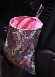 An always open car trash/gadget bag