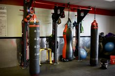 Triple bag stand and functional training rack