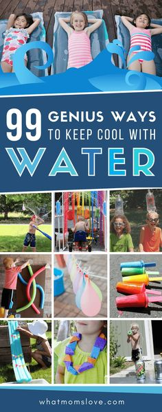 Summer Outdoor Water Activities for Kids | Beat the heat with these easy backyard ideas perfect for toddlers to teens - includes fun water games, educational activities, best DIY contraptions, water balloons and sensory play ideas. Keep cool all summer long! #water #summerfun #kidsactivities