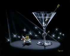 Martini - Titled: Elvistini.....Michael Goddard is the coolest artist ever!! Love his stuff!
