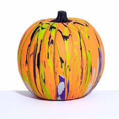 Did you know you can paint pour on a pumpkin? Add marbled and swirled patterns to your fall pumpkin porch decor with the colors of this beautiful pouring project. Combine the trend of pouring with your favorite season!
