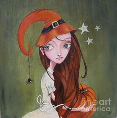 Halloween by Caroline Bonne-Muller - Halloween Painting - Halloween Fine Art Prints and Posters for Sale