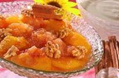 Compota de melocotón y manzana