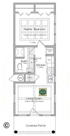 This is Texas Tiny Homes latest plan design, which is ideal for single persons, young couples, or retired couples looking for an inexpensive...