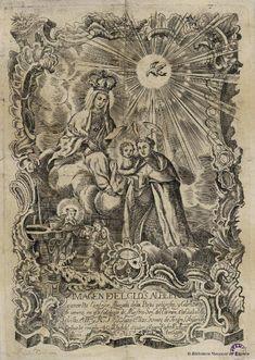 [Virgen del Carmen y San Alberto de Sevilla]. Alagarda e Eisach, José Vicente fl. 1735-1750 — Grabado — 1752