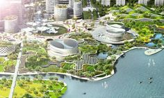 HAO / Holm Architecture Office and AI have been chosen as a shared winner of the Eco City Binhai Master Plan