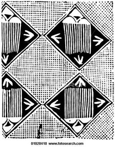 Africa Detail of patterns used by the Yoruba people in Nigeria on resist-dyed fabrics The Yoruba are one of the two major Ethnic groups of Nigeria They Yoruba kingdoms wer 01020410 - Search Clipart, Illustration Posters, Drawings and Vector EPS Graphics Images - 01020410.jpg