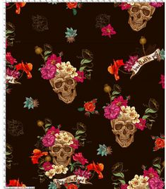 Sister In Law Gifts, Mother In Law Gifts, Gifts For Husband, Colorful Skulls, Skulls And Roses, Skull Print, Modern Fabric, Bird Prints, Lace Fabric