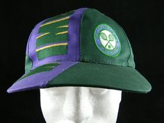VTG RARE WIMBLEDON The Championship Purple Green Adjustable Hat UEC  #NotAvailable #BaseballCap