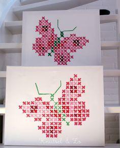 kruissteek vlinder - Google Search