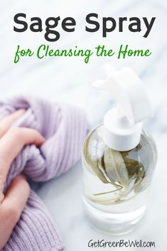 DIY Sage Spray for Cleansing Home – Get Green Be Well Want to get rid of bacteria + negative energy? It's possible with this DIY sage spray. Clean your home with this green cleaner that also acts as a smudge spray for cleaning negative energy. Deep Cleaning Tips, House Cleaning Tips, Natural Cleaning Products, Cleaning Hacks, Diy Hacks, Cleaning Spray, Green Cleaning Recipes, Diy Home Cleaning, Spring Cleaning