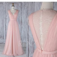 Bridesmaid Dress Blush Pink V Neck Tulle Wedding Dress Key Hole Illusion Lace Back Long Prom Dress Sleeveless Maxi Dress Full - Brautjungfernkleider renzrags - Blush Pink Bridesmaids, Blush Bridesmaid Dresses, Colored Wedding Dresses, Tulle Wedding, Wedding Gowns, Prom Dresses, Dress Prom, The Dress, Pink Dress