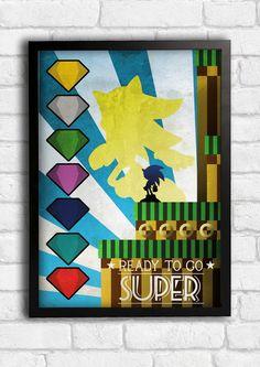 A variant of One my new art deco style range #artdeco #fwgdesign #supersonic #sonic #sega #stc #sonicthehedgehog