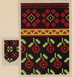 Knitting Machine Patterns, Knitting Charts, Knitting Stitches, Baby Hats Knitting, Knitting Socks, Hand Knitting, Knitted Mittens Pattern, Knit Mittens, Cross Stitch Patterns