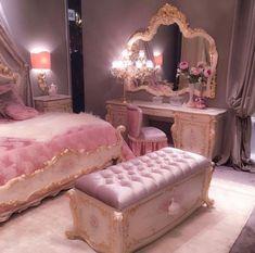 Trendy luxury bedroom furniture hollywood - My Home Decor Cute Bedroom Ideas, Cute Room Decor, Room Ideas Bedroom, Girl Bedroom Designs, Girls Bedroom, Bedroom Decor, Glam Bedroom, Bedroom Small, Luxury Bedroom Furniture