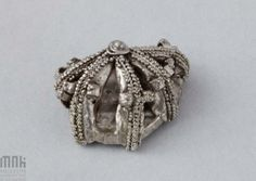 Poland - West Slavs - fragment of a button, century Viking Art, 11th Century, Ancient Jewelry, Middle Ages, Archaeology, Silver Beads, Poland, Vikings, Medieval