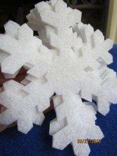 Glitter Felt -Die Cut Snowflakes-White Glitter Snowflakes-Bulletin Boards Decorations-Winter Theme Party