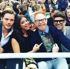 "75 Likes, 1 Comments - Shadowhunters TV Fans (@shadowhunterstvfans) on Instagram: ""Dom and Sarah with Jesse Tyler Ferguson and Justin Mikita at the opening of 'Taming of the Shrew' ❤…"""
